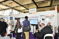 A view of GENCI's booth at the 2014 Teratec forum