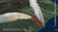 Simulation de l'éruption du Piton de la Fournaise en 2007 (c) LACy